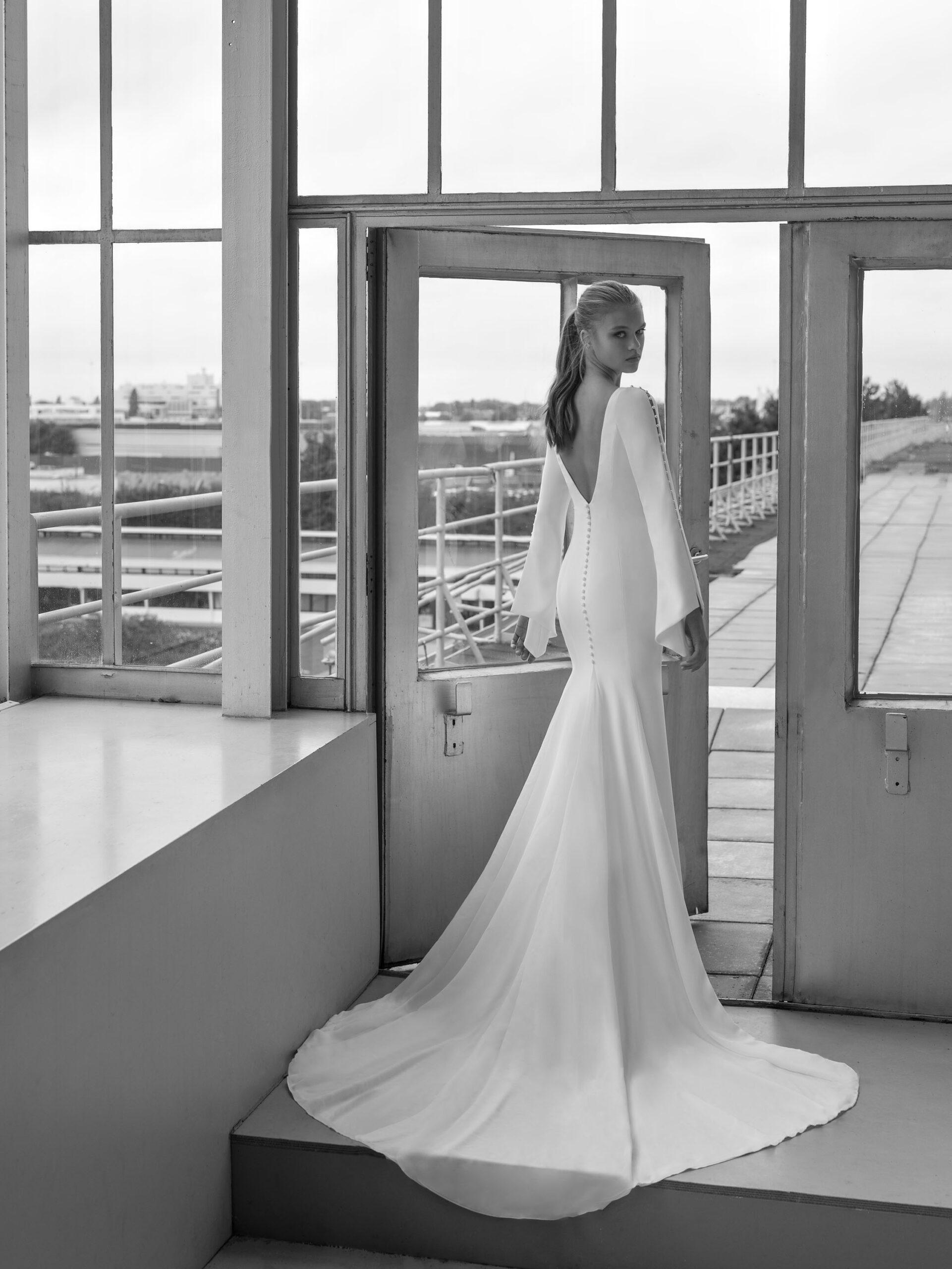 Bryllupskjole sort hvid